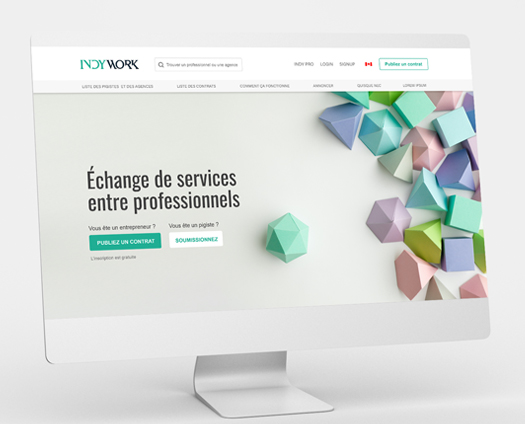 webcolours portfolio : indywork