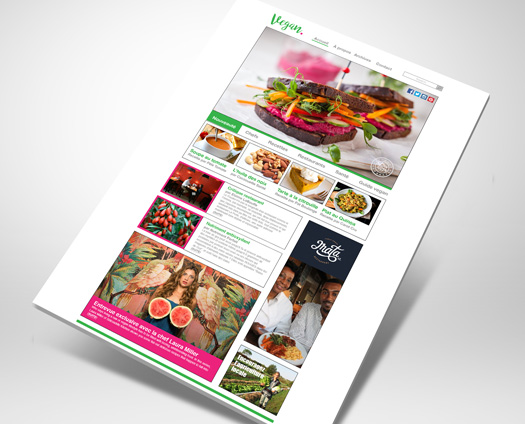 webcolours portfolio : vegan mag thumbnail